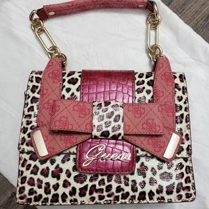 New Pink Leopard GUESS Purse